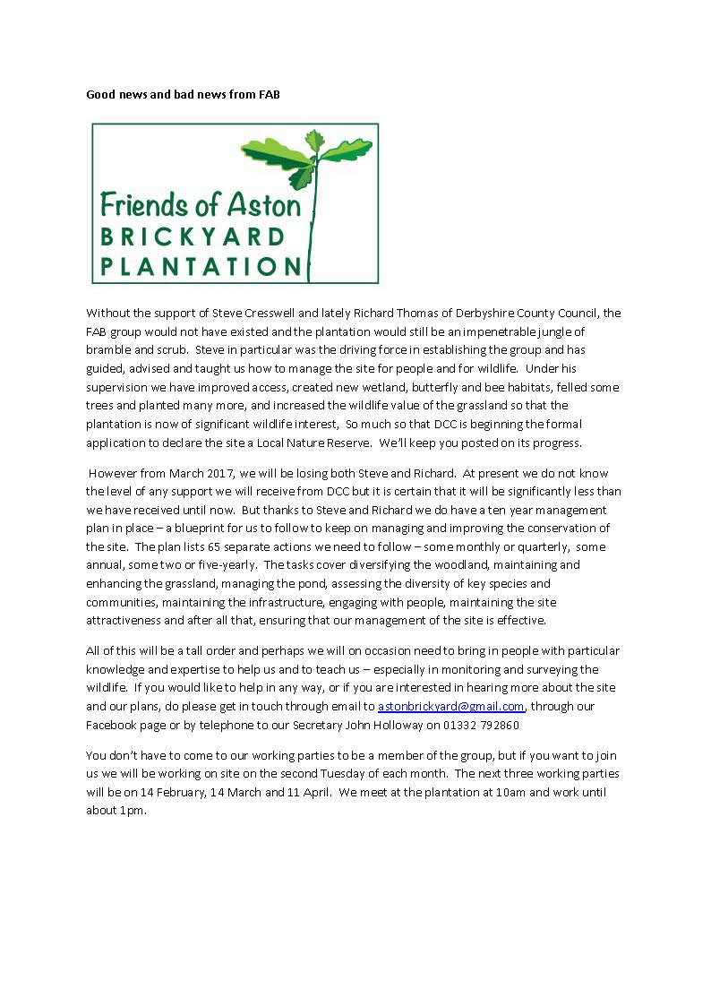 Friends of Aston - Brickyard Plantation